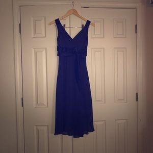 Beautiful Royal Blue Semi Formal Chiffon Dress